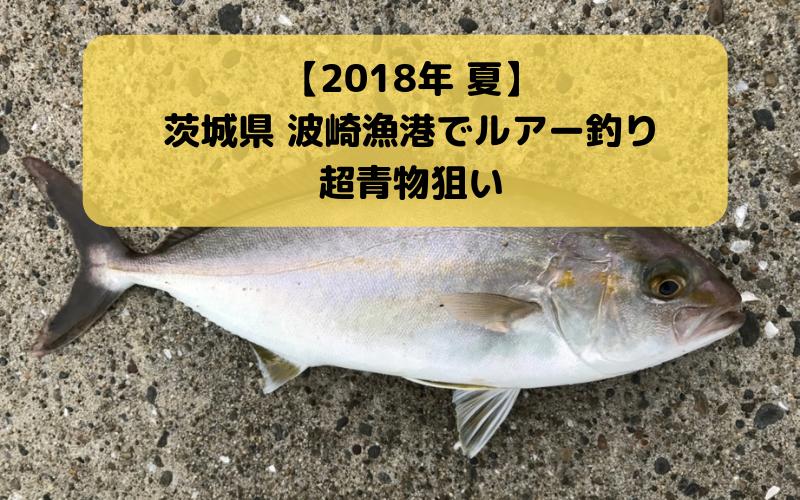 【実釣レポート】アジ・イナダ・ショゴなどの青物で賑わうと噂の波崎漁港でルアー釣り