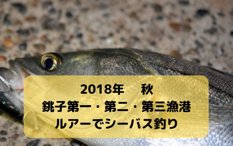 【2018年10月】銚子 第一・第二・第三漁港でルアー釣行 ヒラメ・シーバス狙いで夜釣り