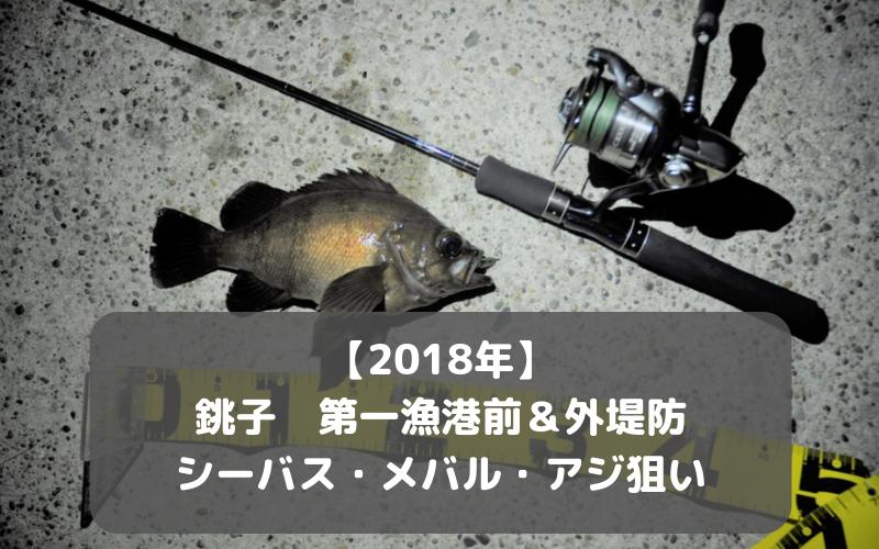 【2018年9月】銚子第一漁港前&外堤防でルアー シーバス メバル アジ釣り