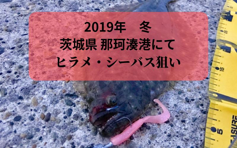 【2018年 秋】アジ イワシで群れていると噂の那珂湊港で釣り ヒラメ・シーバス狙い