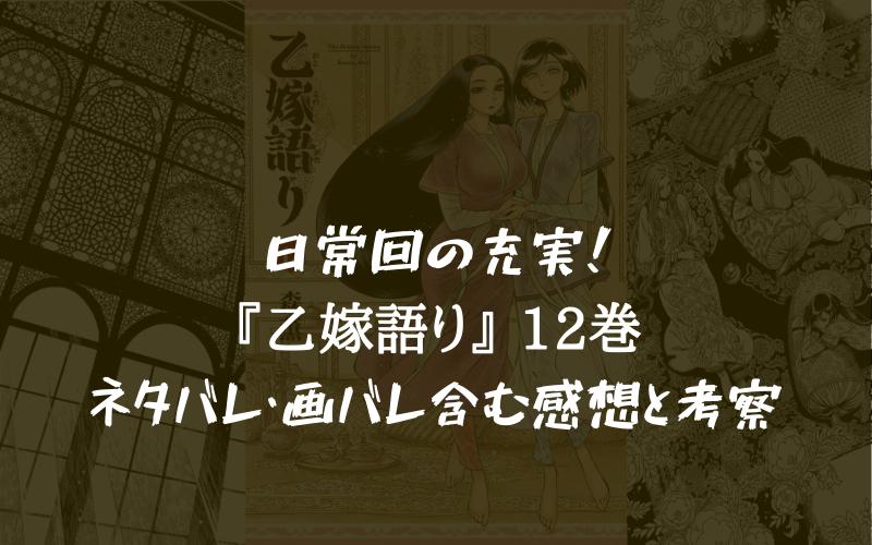 【一休み巻】乙嫁語り 12巻のネタバレ・画バレ含む感想と考察