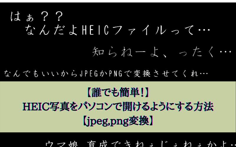 【誰でも簡単!】HEIC写真をパソコンで開けるようにする方法【jpeg,png変換】