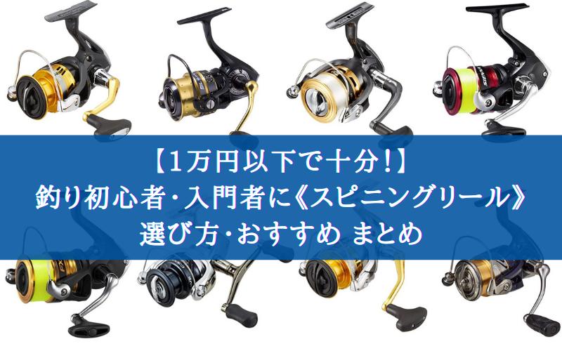 【1万円以下で十分!】釣り初心者におすすめな《スピニングリール》の選び方・10選