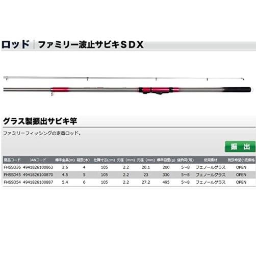 サビキ釣竿 おすすめ(OGK(オージーケー) ファミリー波止サビキSDX 450)2